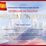Diploma Dear Tomasz Mazur! Madrid-1